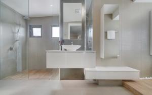 Bathroom design of 2015 winner hia northern nsw for Small bathroom design awards