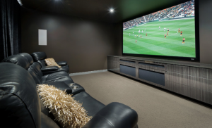 Media room - designed by Designing Divas - Master Builders Home of the Year 2013