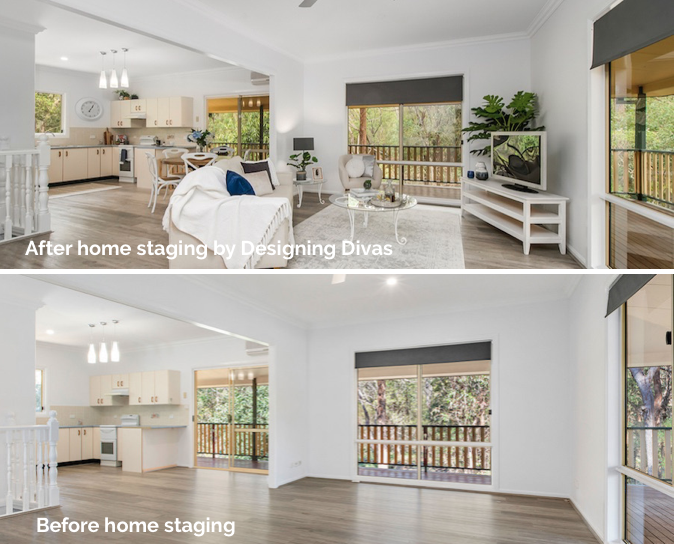 home staging port macquarie - after & before ^ geary St (hem) Designing Divas