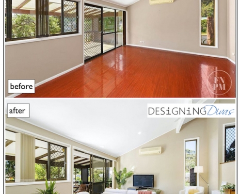 Home staging Port Macquarie before and after DESiGNiNG Divas