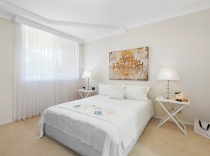masterbed  after- PROPERTY STYLING - MCGRATH - APARTMENT, BURRAWAN ST, PORT MACQUARIE NSW 2444 -designingdivas.com.au