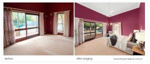 dd4 home staging before & after - Marian Drive - designingdivas.com.au